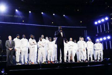Homenaje de Magic Johnson a Kobe Bryant en el All Star Game de la NBA