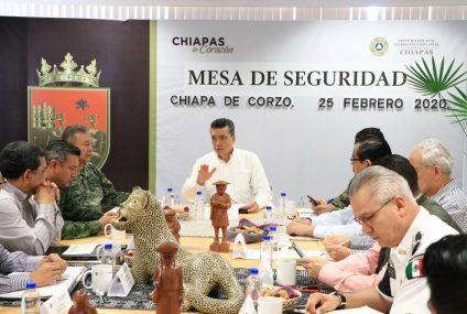 Trabajamos en unidad para velar por la paz y tranquilidad en Chiapas: Rutilio Escandón