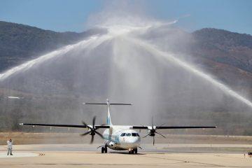 Rutilio Escandón y titular de Sectur, Miguel Torruco, inauguran nuevo vuelo de Aeromar