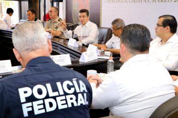 En Tapachula, encabeza Rutilio Escandón Reunión para la Coordinación Estatal y Regional de la Paz
