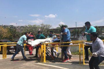 """Se traslada vía aérea a heridos por explosión al Hospital General """"Gómez Maza"""""""