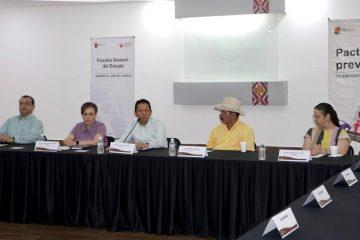 Encabeza Llaven Pacto Contra Incendios con ejidatarios de La Concordia