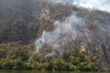 Caída de rayo, la causa del incendio en el Cañón del Sumidero