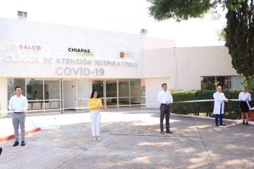 Inaugura Rutilio Escandón Clínica de Atención Respiratoria COVID-19 en Comitán de Domínguez