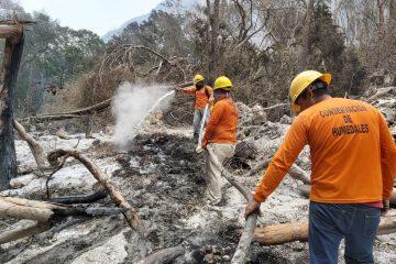 Avance del 70% en control y combate de incendio en el Cañón del Sumidero