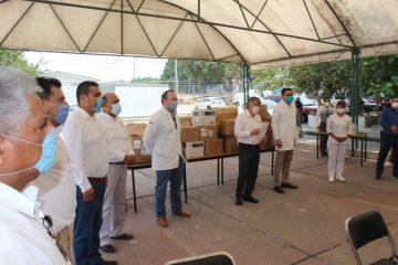 S-7 del SNTE entrega equipo de protección al ISSSTE en Chiapas