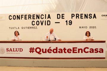 290 casos y 16 defunciones por COVID-19 en Chiapas