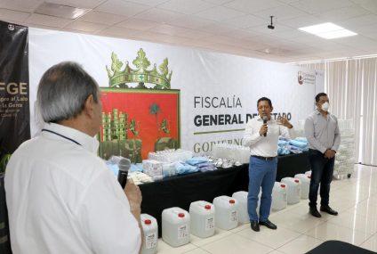Entrega Llaven insumos y equipo de bioseguridad a fiscales de Distrito y de Materia
