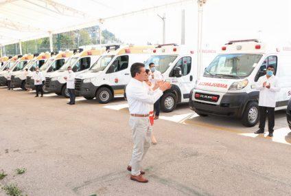 Entrega Rutilio Escandón ambulancias para reforzar acciones de salud en municipios indígenas