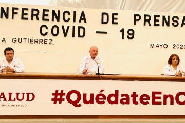 Llega Chiapas a 743 casos y 63 defunciones por COVID-19