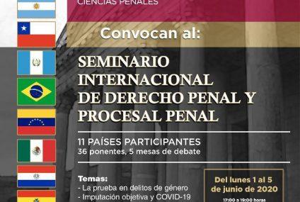 Realizará FGE Seminario Internacional de Derecho Penal con ponentes de 11 países: Llaven Abarca