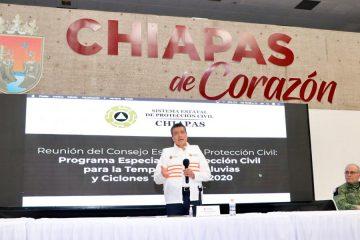 Hoy más que nunca, trabajamos en equipo para proteger al pueblo de Chiapas: Rutilio Escandón