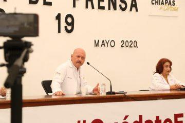 Continúa en ascenso el coronavirus en Chiapas: mil 382 casos