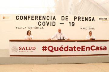 Mil 483 casos acumulados y 113 defunciones por COVID-19 en Chiapas