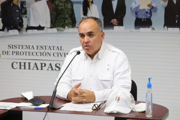 Secretario de Protección Civil de Chiapas da positivo a Covid-19