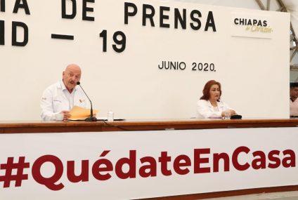 De 2 mil 650 casos acumulados en Chiapas, 55 % se han recuperado