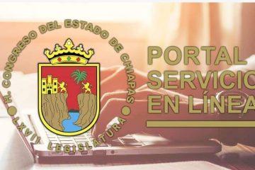Ciudadanía puede acceder al Portal de Servicios en Línea del Congreso del Estado