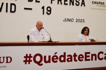 En Chiapas hay confirmados 3 mil 807 casos y 262 defunciones por COVID-19