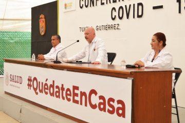 Comportamiento del COVID-19 en Chiapas: 3 mil 996 casos y 281 defunciones