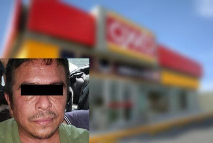 Detenido por robo con violencia en tienda comercial de Tuxtla Gutiérrez