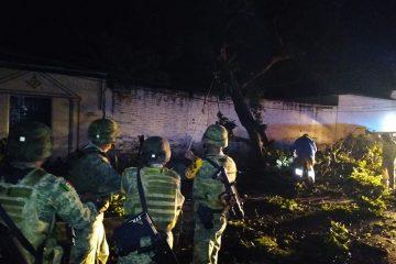 Lluvias causan destrozos en Villafores; Sedena aplica plan D-N-III-E