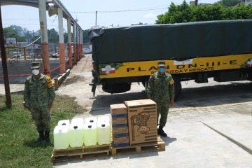 Ejército ha distribuido 10 toneladas de material e insumos médicos en Chiapas