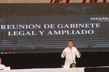 Llama Rutilio Escandón a su Gabinete a seguir trabajando con transparencia y lealtad al pueblo