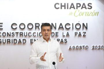 Destaca Chiapas por resultados positivos en combate al COVID-19 a nivel nacional: Rutilio Escandón