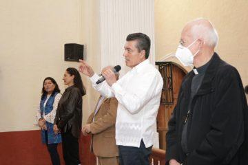 Rutilio Escandón y el director del INAH impulsan restauración de bienes culturales dañados por sismo