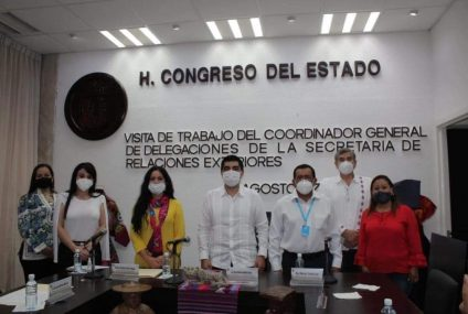 SRE y Legislativo de Chiapas coordinan trabajos para generar oportunidades y desarrollo