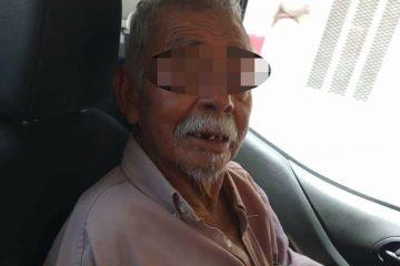 Rescata a abuelito abandonado en vía pública