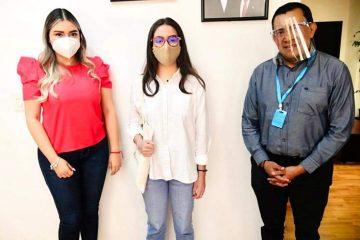 Congreso del Estado recibe a Valeria Gómez  alumna chiapaneca destacada