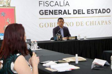 Exhorta Llaven a fiscales de Distrito y de Materia a reforzar estrategias de seguridad y justicia en Chiapas