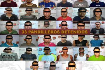 En reforzamiento del Operativo Antipandillas, FGE detiene a 33 integrantes de MS y Barrio 18