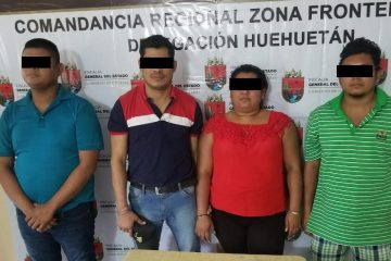 Detenidos por posesión de droga en Huehuetán, Chiapas