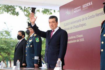 Conmemora Rutilio Escandón el 173 Aniversario de la Gesta Heroica de los Niños Héroes de Chapultepec