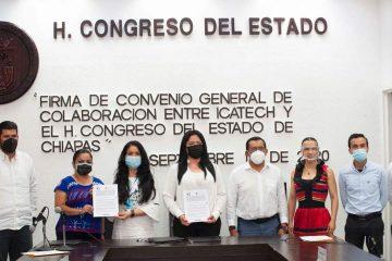 Firma convenio Congreso con ICATECH