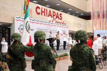 Encabeza Rutilio Escandón conmemoración del 196 Aniversario de la Federación de Chiapas a México