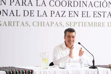 Chiapas, una de las entidades más seguras y pacíficas del país: Rutilio Escandón