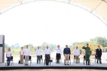 Acompaña Rutilio Escandón al presidente AMLO en la supervisión del Tren Maya, Tramo 1
