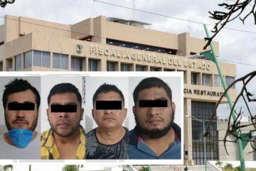 Detiene FGE a cuatro implicados en robo con violencia en Tuxtla