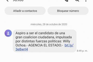 NOS DESLINDAMOS DE INFORMACIÓN MALVERSADA EN MENSAJES SMS