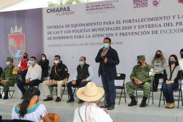 Reconoce fiscal general visión del gobernador para invertir en materia de seguridad y justicia en Chiapas