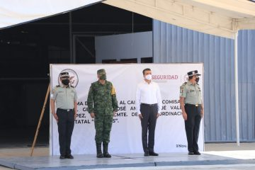 Atestigua Rutilio Escandón toma de posesión del nuevo coordinador de la Guardia Nacional en Chiapas