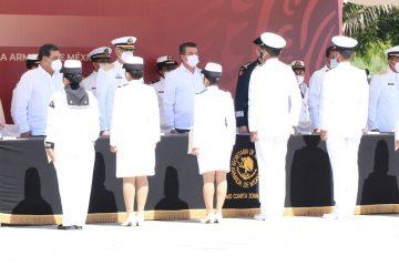 Desde Puerto Chiapas, conmemora Rutilio Escandón el Día de la Armada de México