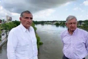Se reunirá AMLO con gobernadores de Chiapas y Tabasco, tras daños por lluvias