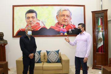 Rutilio Escandón presenta al nuevo fiscal general del Estado, Olaf Gómez Hernández