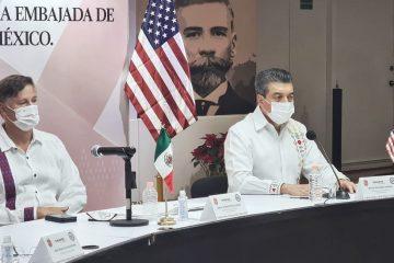 Rutilio Escandón y embajador de EUA en México encabezan reunión de cooperación internacional