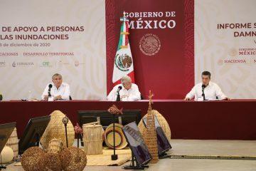 En nombre del pueblo de Chiapas, Rutilio Escandón agradece apoyo de AMLO a familias damnificadas