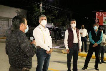 Inaugura Rutilio Escandón pavimentación de calles en la colonia Paso Limón de Tuxtla Gutiérrez